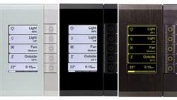 5-клавишный выключатель Saturn с экраном, Clipsal C BUS eDLT стекло - фото 15103