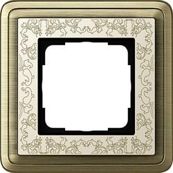 Рамка Gira ClassiX Art одноместная Бронза-кремовый 0211663 - фото 5416
