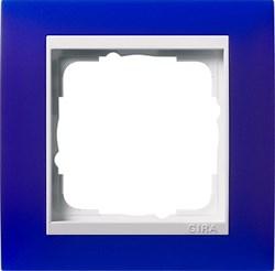 Рамка 1-пост для центральных вставок белого цвета, Gira Event Синий - фото 6702