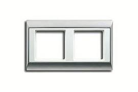 Рамка двойная, для горизонтального/вертикального монтажа Jung A plus Алюминий/белый ap582ALWW