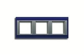 Рамка тройная, для горизонтального/вертикального монтажа Jung A plus Синий/алюминий ap583BLAL
