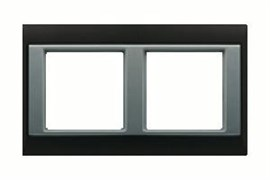 Рамка двойная Jung A plus Хром/алюминий ap582GCRAL