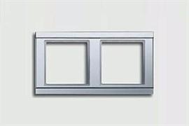 Рамка двойная, для горизонтального/вертикального монтажа Jung A500 Алюминий a582al
