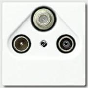Накладка TV-SAT-FM розетки Jung A500 Белый A561PLSATWW