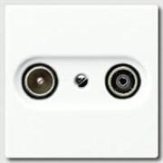 Накладка TV-SAT-FM розетки  Jung A500 Белый ABA561PLTVWW