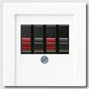 Накладка розетки ТАЕ, моно/стерео-аудиорозетки Jung A500 Белый a569pltww