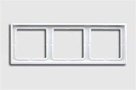 Рамка тройная, для горизонтального/вертикального монтажа Jung LS 990 Белый LS983ww