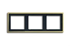 Рамка тройная, для горизонтального/вертикального монтажа Jung LS Gold Золото go2983
