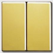 Выключатель двухклавишный, 10 А / 250 В~ Jung LS Gold Золото go2995