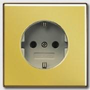 Розетка с заземляющими контактами 16 А / 250 В~ с защитой от детей Jung LS Gold Золото go1520ki