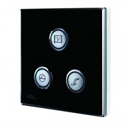 3-клавишная кнопочная Smart панель, LED индикация, европейский стандарт