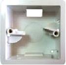 Монтажная коробка, квадратная, пластик