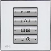 8-клавишная панель Slim, большие 2-позиционные клавиши, европейский стандарт