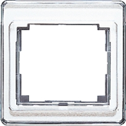 Рамка одинарная Jung SL 500  Серебро sl581si