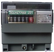 Меркурий Электросчетчик 201.6 на DIN-рейку 10-80А/220В 1Ф 1т. Механика