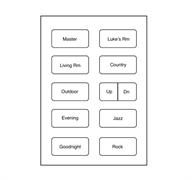 Custom Button 10/pack -White 70771