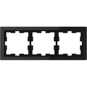 D-Life РАМКА 3-постовая, ЧЕР. ОНИКС , SD MTN4030-6503