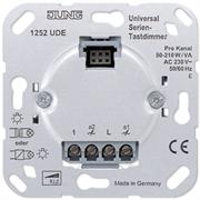 JUNG Мех Светорегулятор 2-канальный нажимной 50-260 Вт/ВА на канал для л/н, электр. и обмо. тр-ров 1252UDE