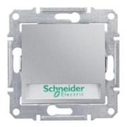 Sedna Алюминий Выключатель 1-клавишный кнопочный с полем для надписи и подсветкой 10А (сх.1)