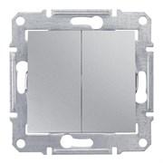 Sedna Алюминий Выключатель 2-клавишный 10А, IP44 (сх.5)