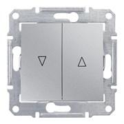 Sedna Алюминий Выключатель жалюзийный с электрической блокировкой 10А (сх.4)