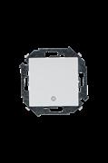 Simon 15 Белый Выключатель кнопочный с пиктограммой, 16А, 250В, винт.зажим