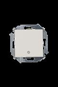 Simon 15 Бежевый Выключатель кнопочный с пиктограммой, 16А, 250В, винт.зажим