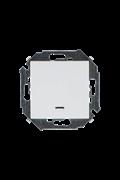 Simon 15 Белый Выключатель кнопочный с подсветкой, 16А, 250В, винт.зажим