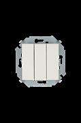 Simon 15 Бежевый Выключатель 3-клавишный, 10А, 250В, винт.зажим