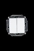 Simon 15 Белый Выключатель 2-клавишный, 16А, 250В, винт.зажим