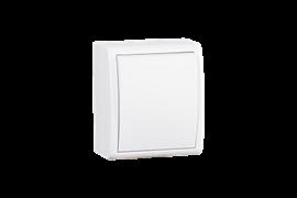 Simon 15 Aqua Белый Выключатель 1-клавишный наружный, IP54