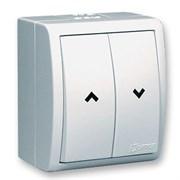 Simon 15 Aqua Белый Выключатель жалюзийный с электрической блокировкой, наружный, IP54