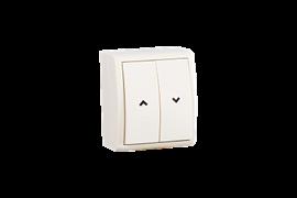 Simon 15 Aqua Бежевый Выключатель жалюзийный с электрической блокировкой, наружный, IP54