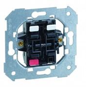 Simon 75 Мех Двухклавишный кнопочный выключатель (1вх+2вых), 1 вход, 10А 250В, S82,82N,88