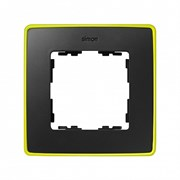 Simon 82 Detail Графит, неоново-желтое основание Рамка 1-ая