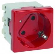Simon Connect Красная Розетка с блокировкой (KS11-6)