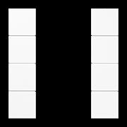 JUNG KNX Белый Набор накладок, на кнопочный модуль 4гр