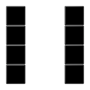 JUNG KNX Черный Набор накладок, на кнопочный модуль 4гр