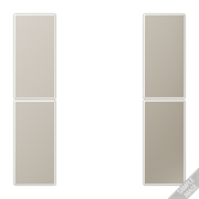 JUNG KNX Хром Комплект накладок 2гр