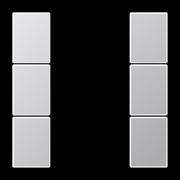 JUNG KNX Алюминий Набор накладок на кнопочный модуль 3гр
