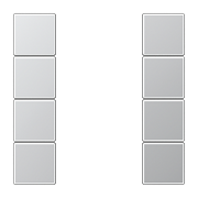 JUNG KNX Алюминий Набор накладок, на кнопочный модуль 4гр