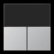 JUNG KNX Алюминий Набор накладок для комнатного контроллера