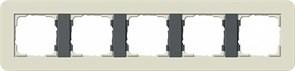 Gira серия E3 Песочный/антрацит Рамка 5-ая