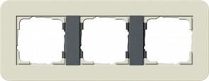 Gira серия E3 Песочный/антрацит Рамка 3-ая