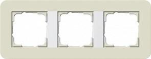 Gira серия E3 Песочный/белый глянцевый Рамка 3-ая
