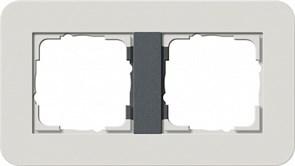 Gira серия E3 Светло-серый/антрацит Рамка 2-ая