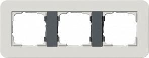 Gira серия E3 Светло-серый/антрацит Рамка 3-ая