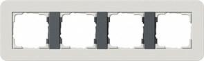 Gira серия E3 Светло-серый/антрацит Рамка 4-ая