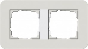 Gira серия E3 Светло-серый/белый глянцевый Рамка 2-ая