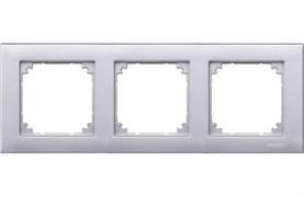 Рамка 3-ая (тройная), Schneider Electric, Серия MERTEN, Алюминий